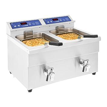 Royal Catering -RCIF-10DB - Freidora de inducción - 2X 10 litros - 60 a 190°C - Envío Gratuito: Amazon.es