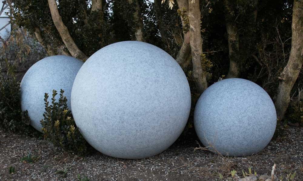 45cm /Ø 10478 GlowOrb stone Gartenkugel Kugelleuchte