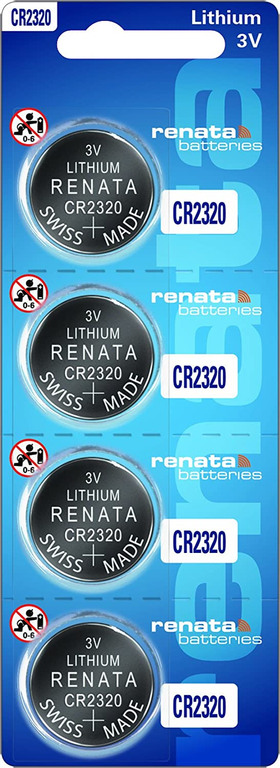 Renata CR2320 3V Lithium Battery Swiss Made 4 Batteries