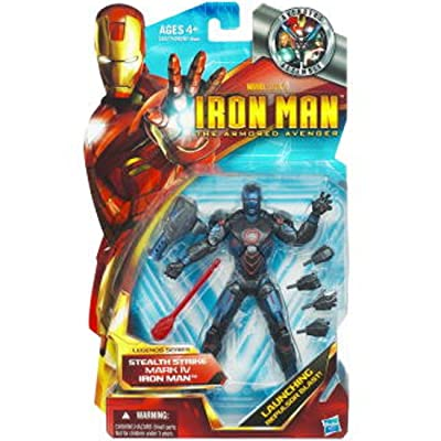 "Iron Man 6"" Action Figure Awesome Stealth Armor: Toys & Games"