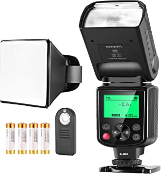 Neewer NW-670 TTL Flash Kit para Canon con Mando a Distancia ...