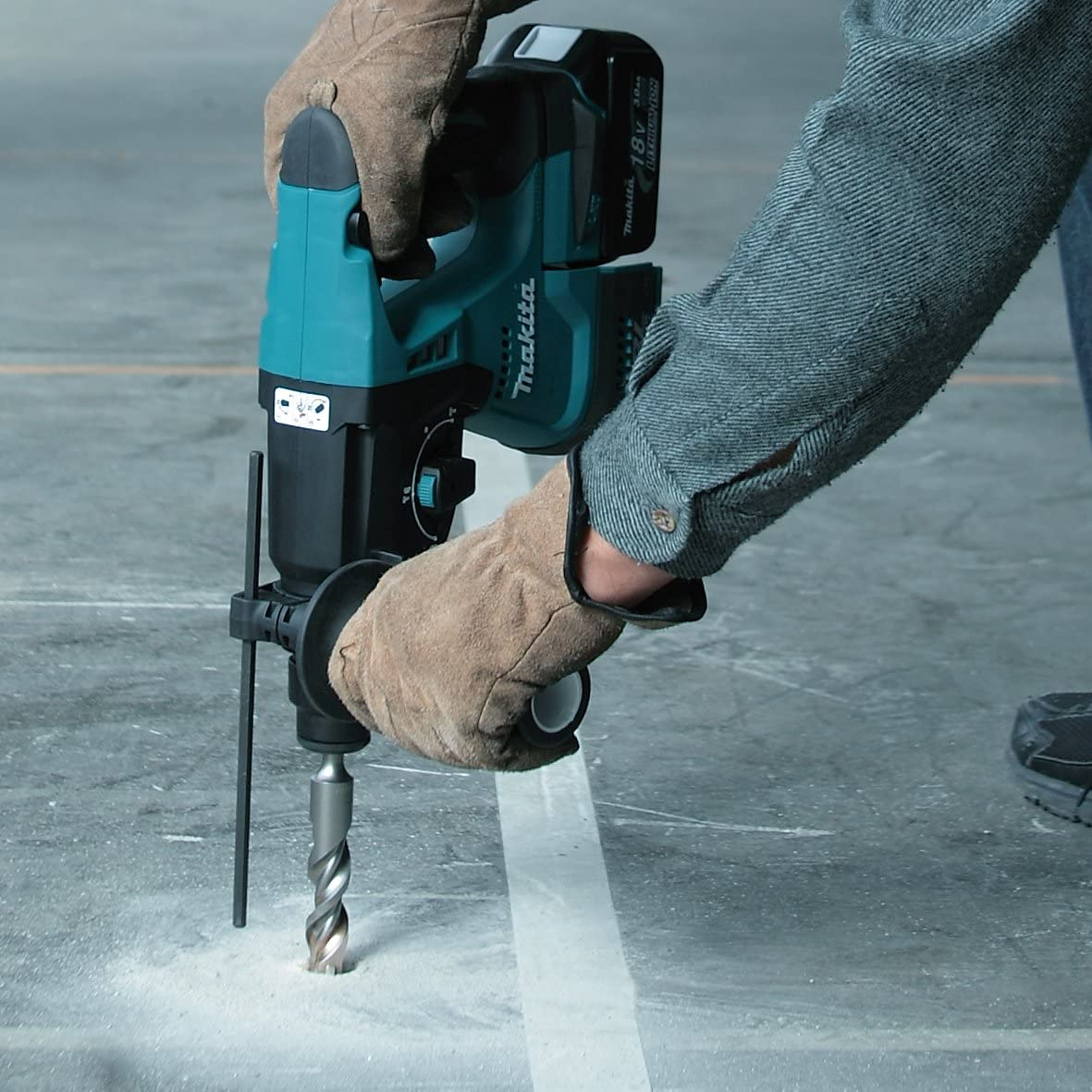 Makita dhr243zj perforateur-burineur Wireless for SDS-Plus 18 V in Makpac Battery and Charger not Included Black Blue