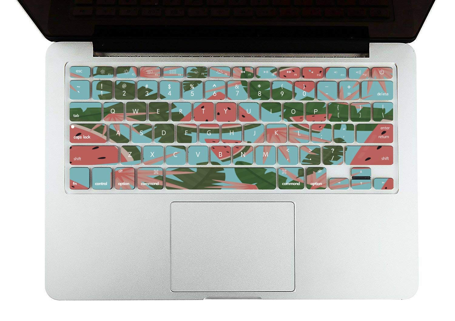 Cover MacBook Air 13 Summer Fruit Watermelon Green Leaf Plastic Hard Shell Compatible Mac Air 11 Pro 13 15 MacBook Air Computer Case Protection for MacBook 2016-2019 Version