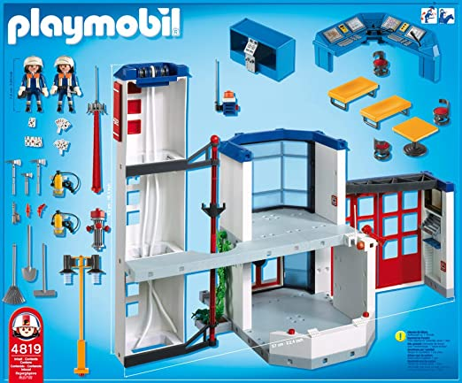 Playmobil 4819 Feuerwehr Hauptquartier Amazon De Spielzeug