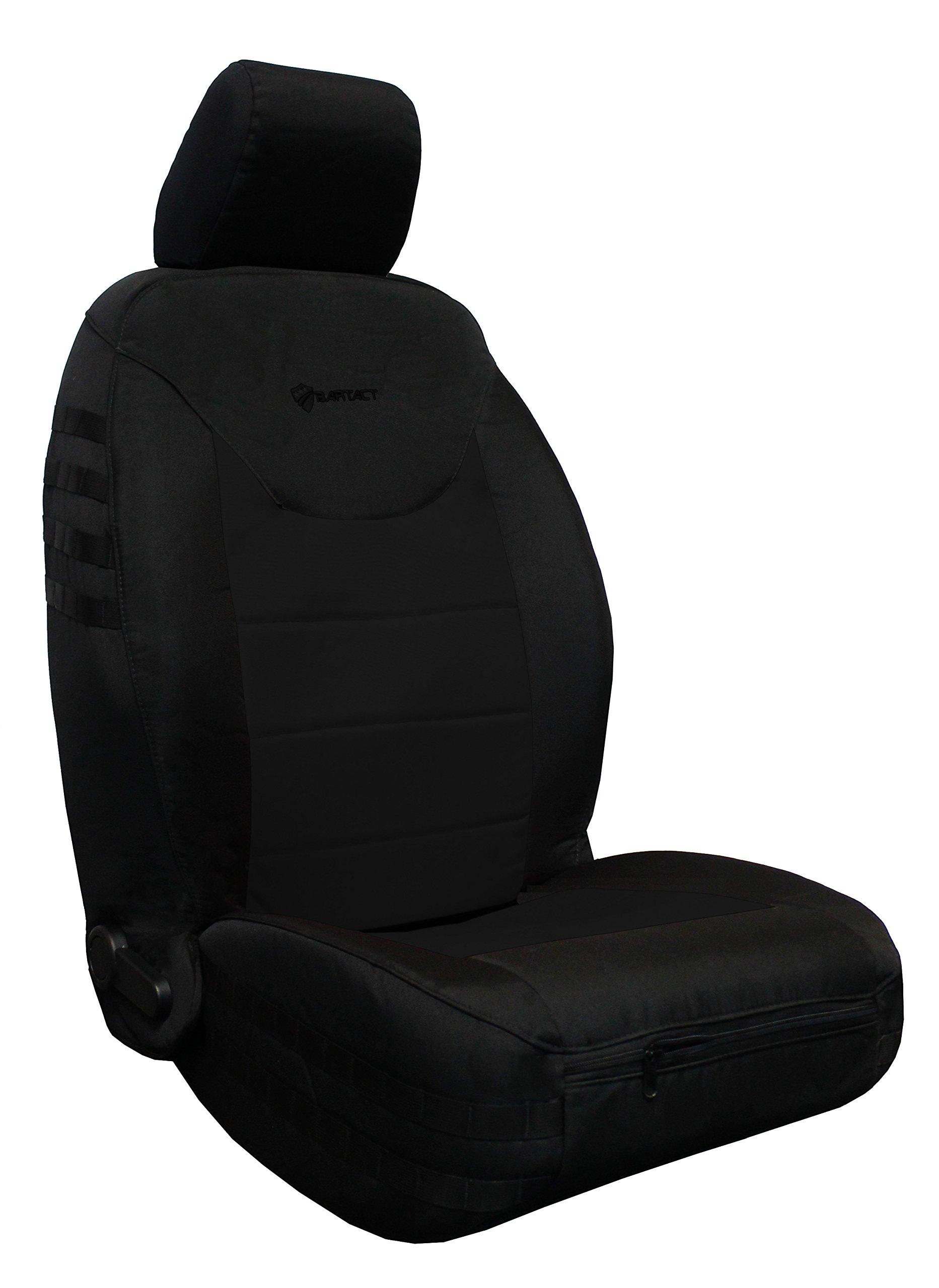 Bartact 2013-17 Front Seat Covers (Pair) Jeep Wrangler JK and JKU - AIR Bag Compatible (Black/Black)