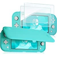 ProCase Nintendo Switch Lite Flip Cover with 2 Pack Tempered Glass Screen Protectors, Slim Protective Flip Case with Magnetically Detachable Front Cover for Nintendo Switch Lite 2019 -Turquois