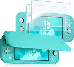ProCase Nintendo Switch Lite Flip Cover with 2 Pack Tempered Glass Screen Protectors, Slim Protective Flip Case with Magnetically Detachable Front Cover for Nintendo Switch Lite 2019–Turquoise