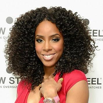 Amazon Com Mqyq Kinky Curly Wig Human Hair Wig For Black Women