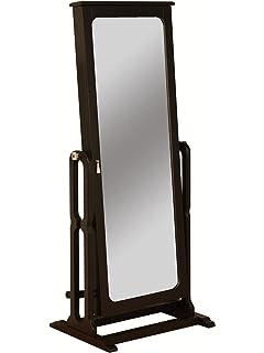 powell dakota cheval jewelry wardrobe with full length mirror antique black amazoncom antique jewelry armoire