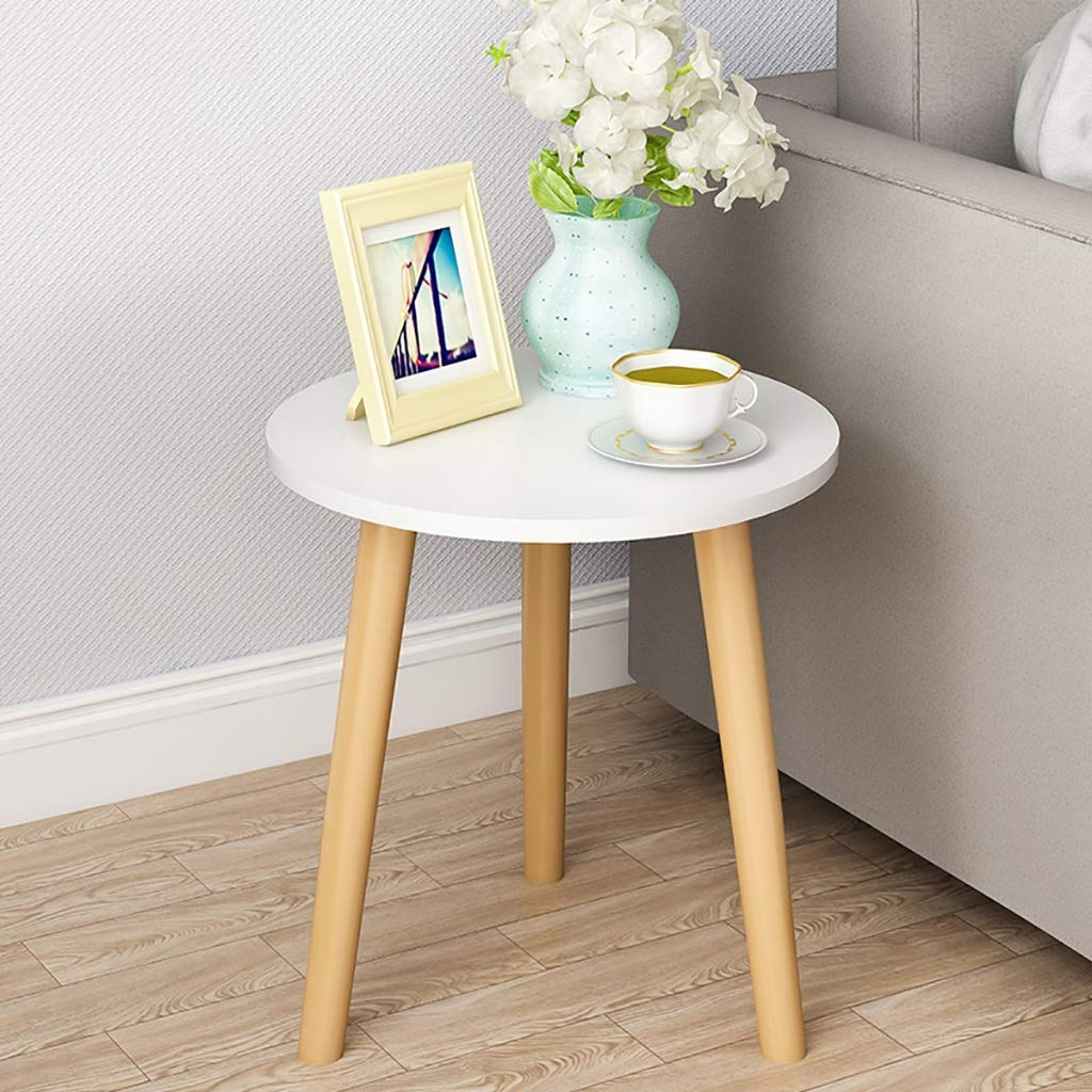 Garde Small Round Table, Simple Mini Bedroom Modern Household Small Coffee Table, Solid Wood Creative Leisure Negotiation Small Table (Color : A, Size : 3542CM) by Garde