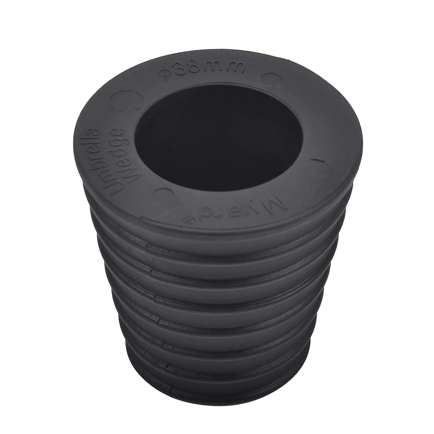 Myard MP UW38 Umbrella Cone Wedge Spacer fits Patio Table Hole Opening or Base 2 to 2.5 Inch, Umbrella Pole Diameter 1 1 2 38mm, Black