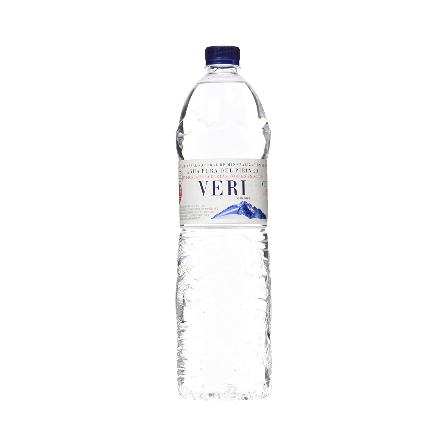 Veri Agua Mineral Natural de Mineralización Débil - Pack de 6 x 1,5 l - Total: 9000 ml: Amazon.es: Amazon Pantry