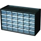 Flambeau 6576NC Hardware and Craft Parts Cabinet Storage Drawer, 30 Drawers