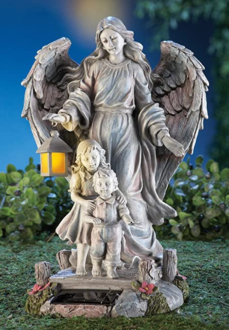 Solar Guardian Angel U0026 Children Garden Statue