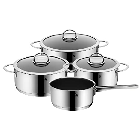 WMF Vignola Batería de Cocina (4 Piezas), Acero Inoxidable Pulido, 20 x