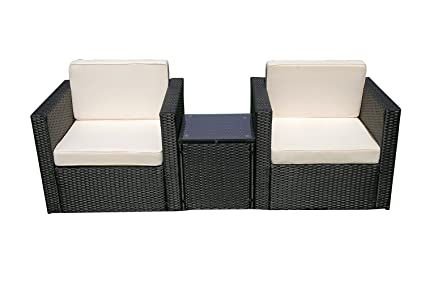 6089 Corner Table MCombo Outdoor Rattan Wicker Couch Sofa Patio Furniture Chair Garden Sectional Set