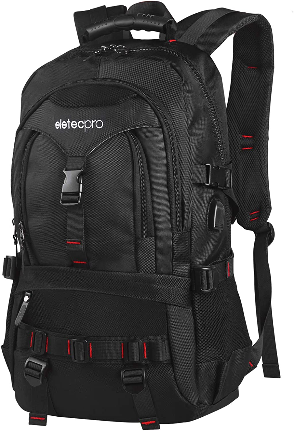 EletecPro 17.3 Inch Laptop Travel Backpack with USB Charging Port