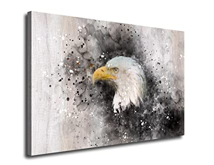 Amazoncom Artewoods Canvas Wall Art Eagle Canvas Paints 24 X 36