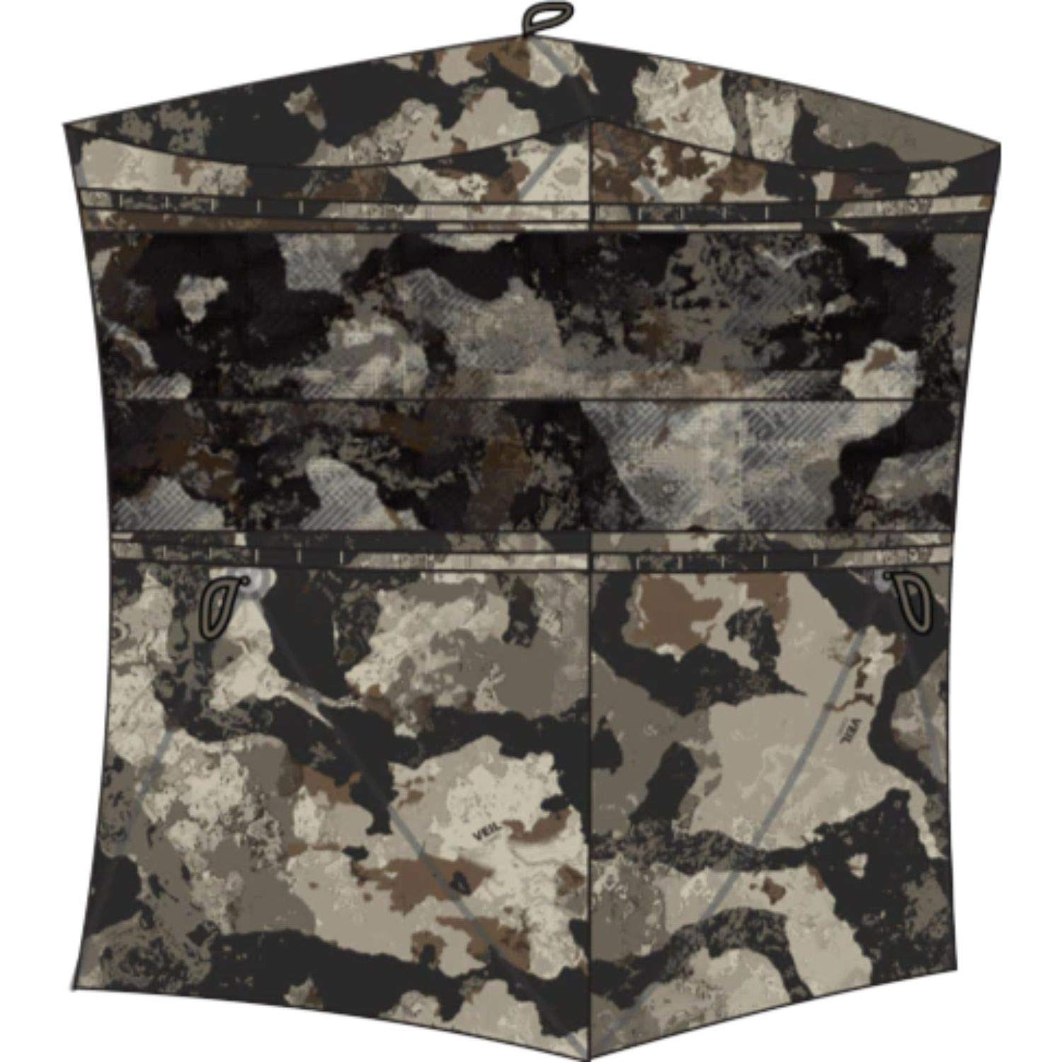 Muddy Infinity 2-Man Ground Blind with Surround View Shadow Mesh Eliminates Blind Spots by Muddy