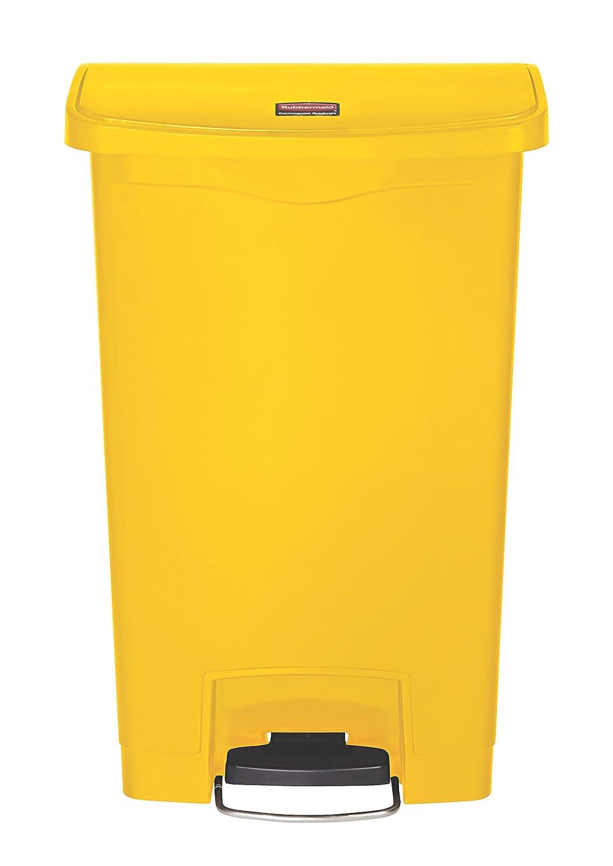Rubbermaid Slim Jim/1883572 amarillo Contenedor con pedal frontal capacidad de 15 l