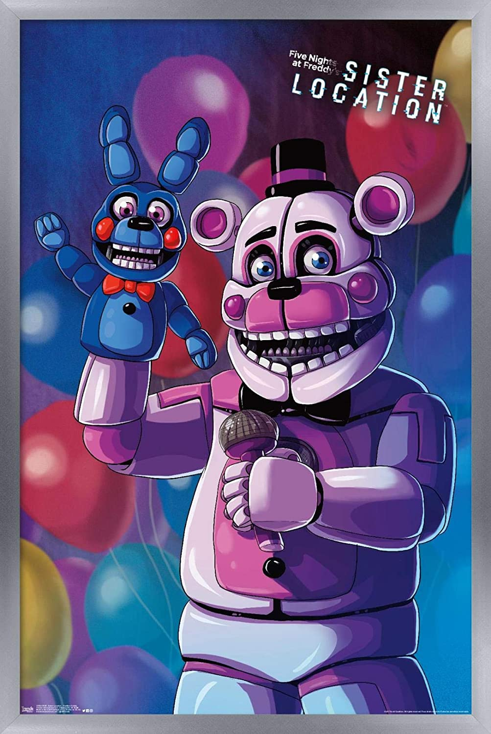 Trends International Five Nights Sister Location-Funtime Freddy Wall Poster, 22.375