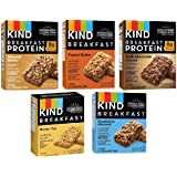 Kind Breakfast Bars New Variety 5 Pack. 1 Box of each: Dark Chocolate, Honey Oat, Peanut Butter, Almond Butter. Total of…
