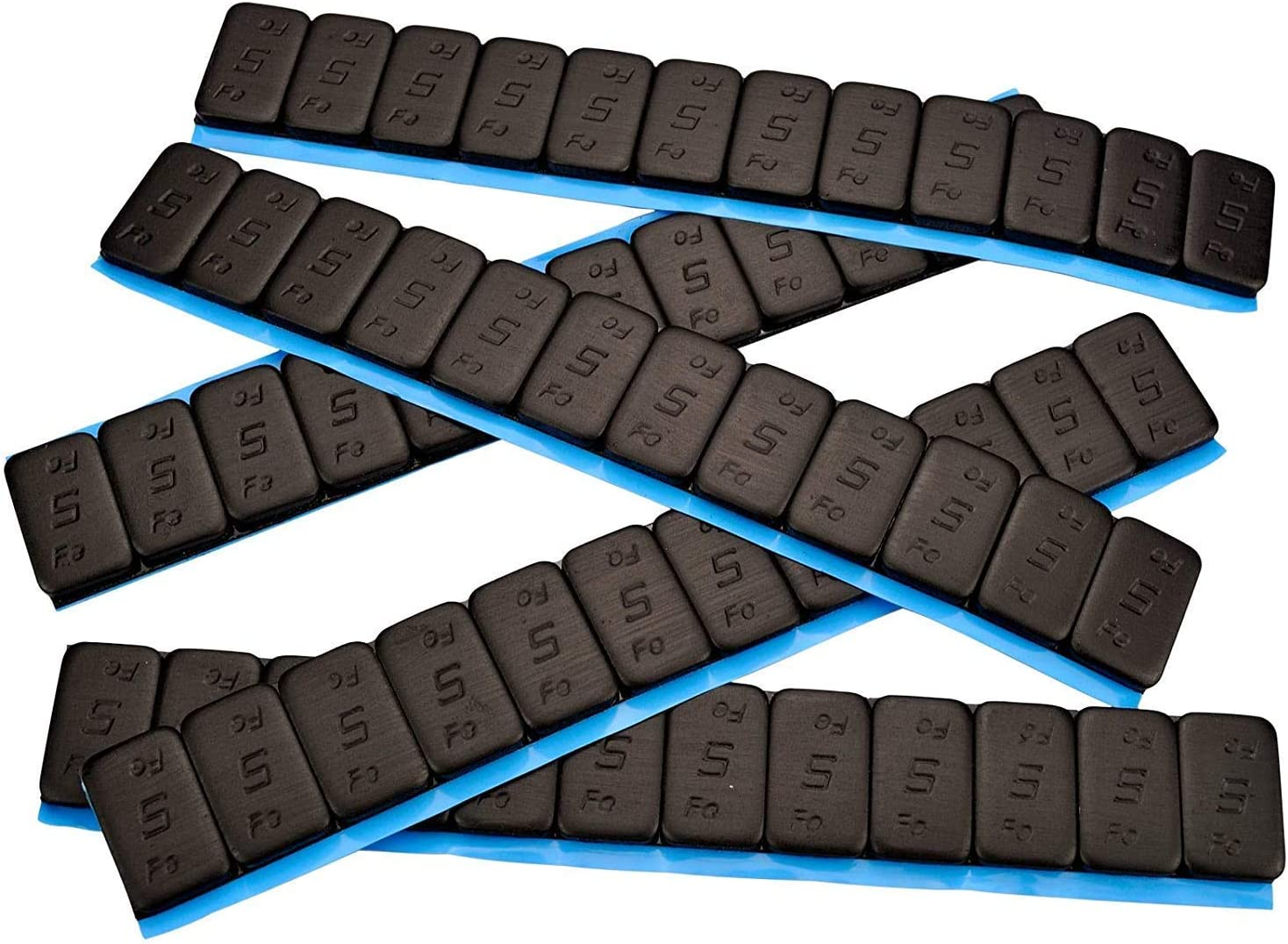 25 Contrapesos Negro 12x5g Pesos Adhesivos Pesos 60g con Rebordes Galvanizado & Recubierto kg Negro 5gx12 1,5kg
