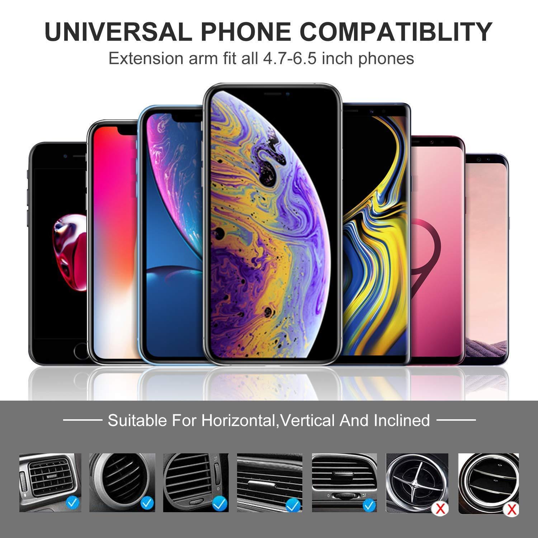 Seiaol Soporte M/óvil Coche para Rejillas del Universal Aire Soporte tel/éfono m/óvil con conexi/ón de Gravedad para iPhone XS MAX//XR//X,Samsung Galaxy S9//S9//S8//S8 Plus//Note 9 y Otros Negro