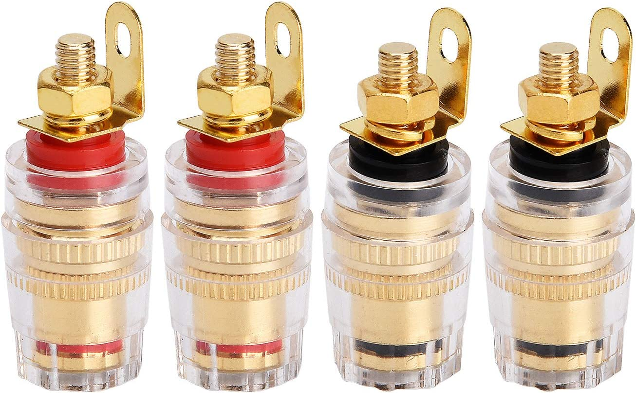 Ucland 10pcs 4mm Female Banana Binding Posts Sockets Connectors for Car Speaker Audio
