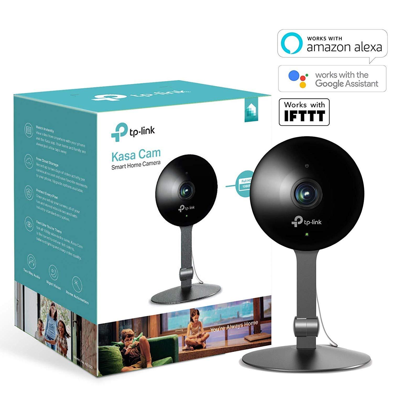 TP-Link KC120 - Cámara de Seguridad para casa Inteligente Kasa CAM 1080P, Funciona con Alexa (Echo Show/Fire TV), Google Home (Chromecast): Tp-Link: ...