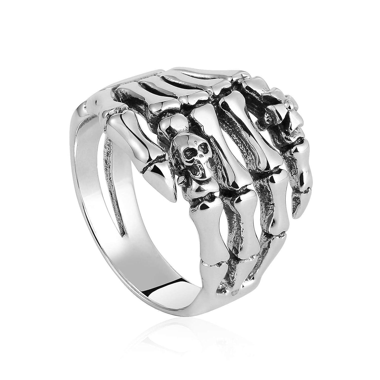 Punk Ring for Men Rotating Buddhist Mantra Ring Size L 1//2-Z Beydodo Mens Om Mani Padme Hum Ring Silver