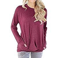 LYXIOF Womens Good Vibes Shirt Long Sleeve Sweatshirt Pocket Pullover Rainbow Blouse Tops