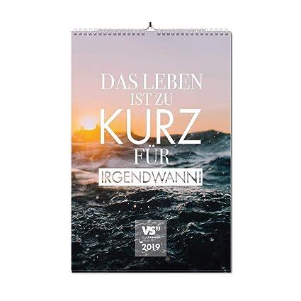 Visual Statements Wandkalender 2019 Kalender Din A3 Kalender Mit Sprüchen Verschiedene Bildmotive Dekoration Zum Aufhängen Monats Wandkalender