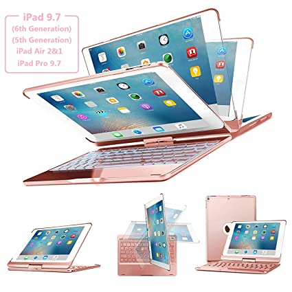 b34e02d4eda356 Amazon.com  Keyboard Case for iPad 9.7