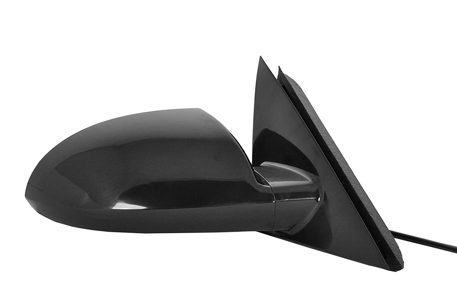 Right Passenger Side Mirror for Chevy Impala (2006 2007 2008 2009 2010 2011 2012 2013), Impala Limited (2014 2015 2016) Unpainted Power Operated Non-Heated Non-Folding Door Mirror