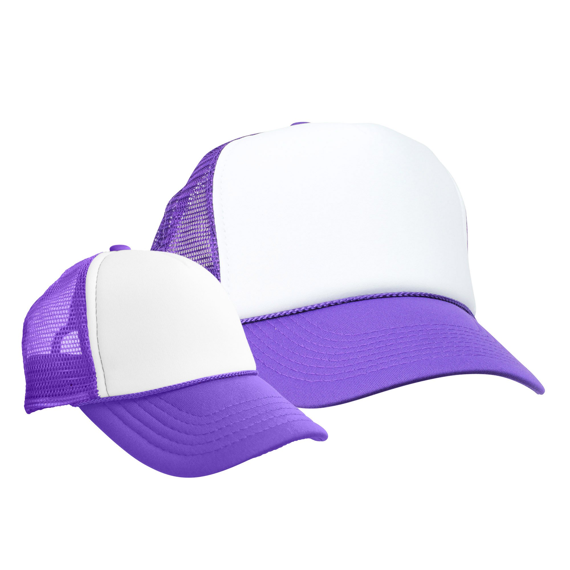 DALIX Mommy and Me Hats Mom and Daughter Father Son Caps Baby Caps Purple White