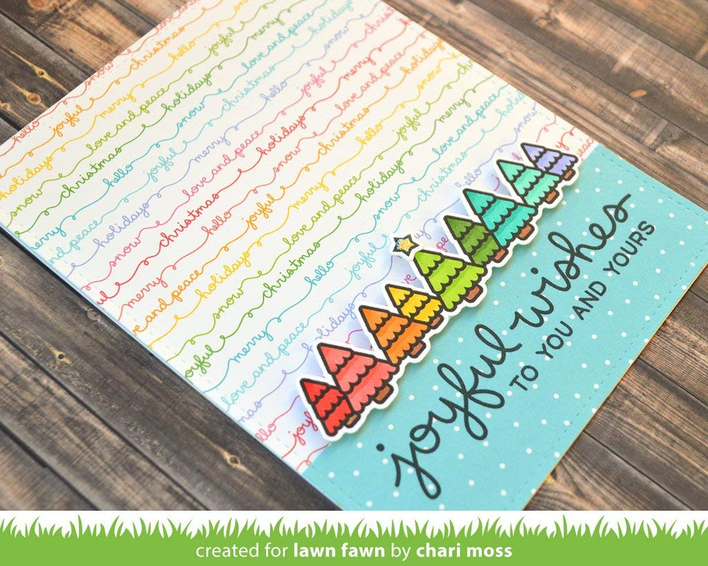 """really rainbow christmas collection pack Lawn Fawn Blo 12/""""x12/"""" // 30,05x30,5cm"""