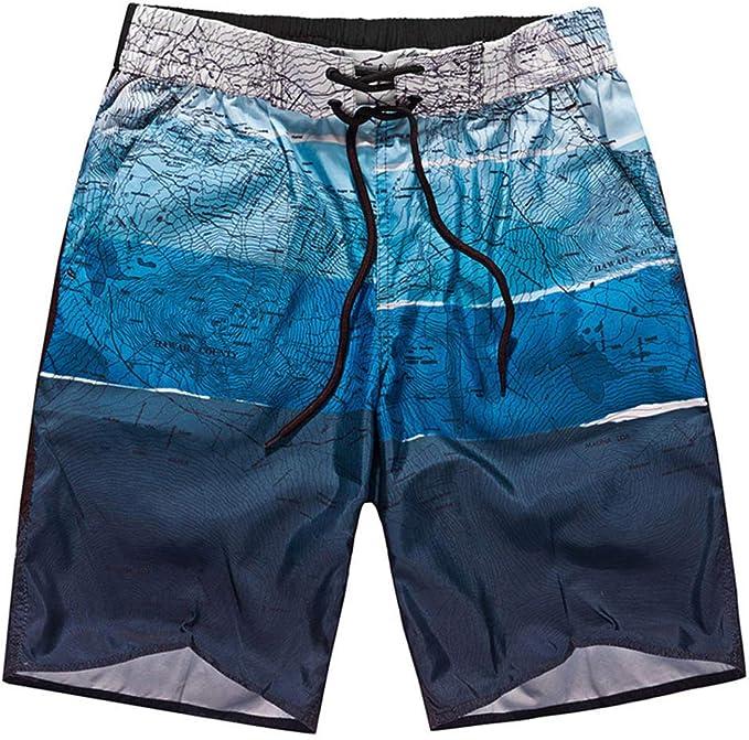 Hombres Pantalón Corto Shorts Playa con Estampado Verano Chinos ...