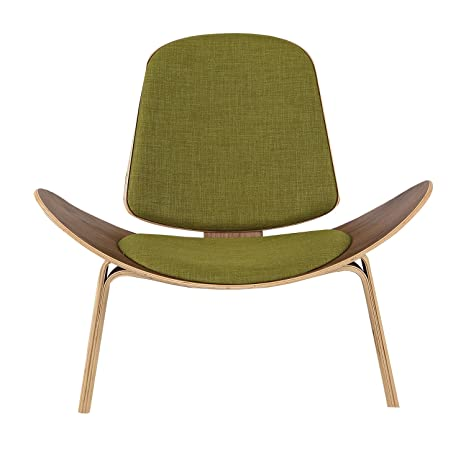 Groovy Kardiel Tripod Plywood Modern Lounge Chair Atomic Moss Walnut Andrewgaddart Wooden Chair Designs For Living Room Andrewgaddartcom