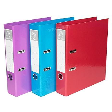 [3 unidades] A4 Archivadores De Palanca 70 mm columna vertebral almacenamiento de papel archivo
