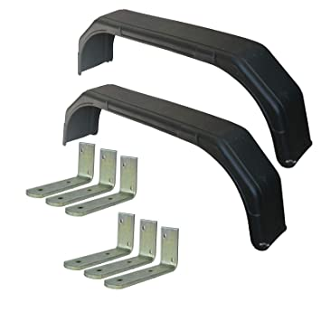 Large Brackets 6pc AB Tools-Maypole Pair 15 16 Twin Wheel Tandem Mudguards 69 x 8 and Fender Wing