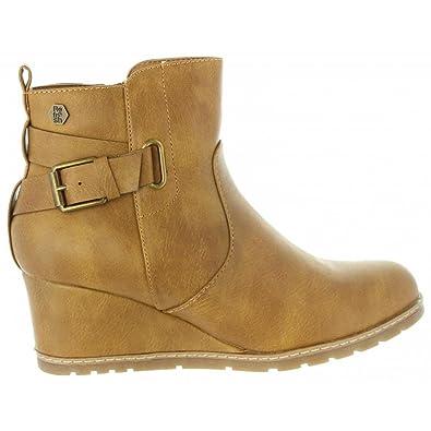 Refresh 63877 Beige - Chaussures Bottine Femme