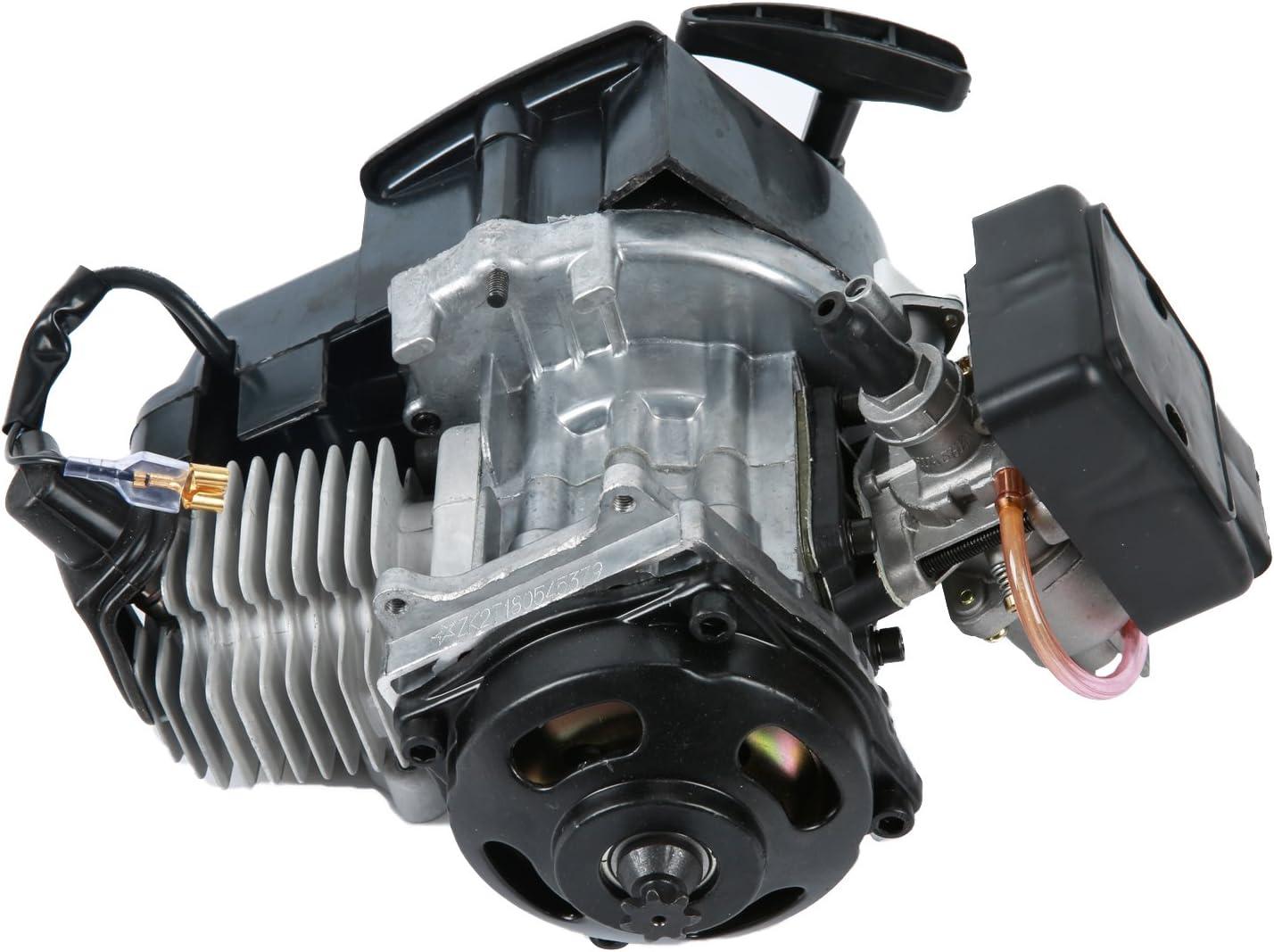 YaeTek 49cc 2-Stroke New Motor Engine Pocket Mini Bike Scooter ATV H EN02