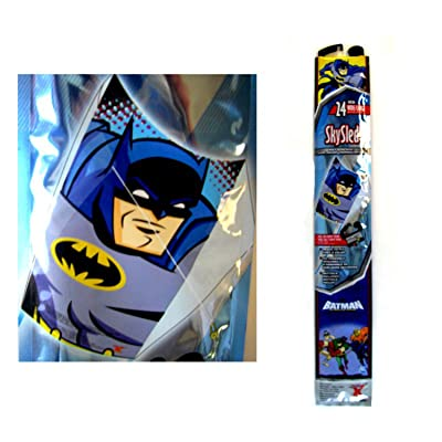 Blue Batman the Brave and the Bold Childrens SkySled Kite (24 Inch): Toys & Games