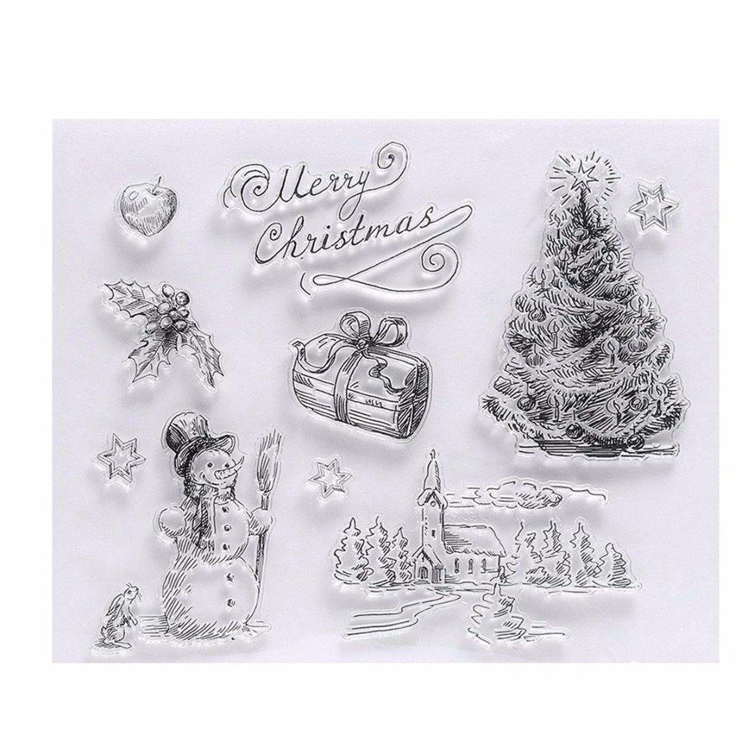Stempel Silikon Weihnachten Briefmarke Transparente Gummi Stempel ...