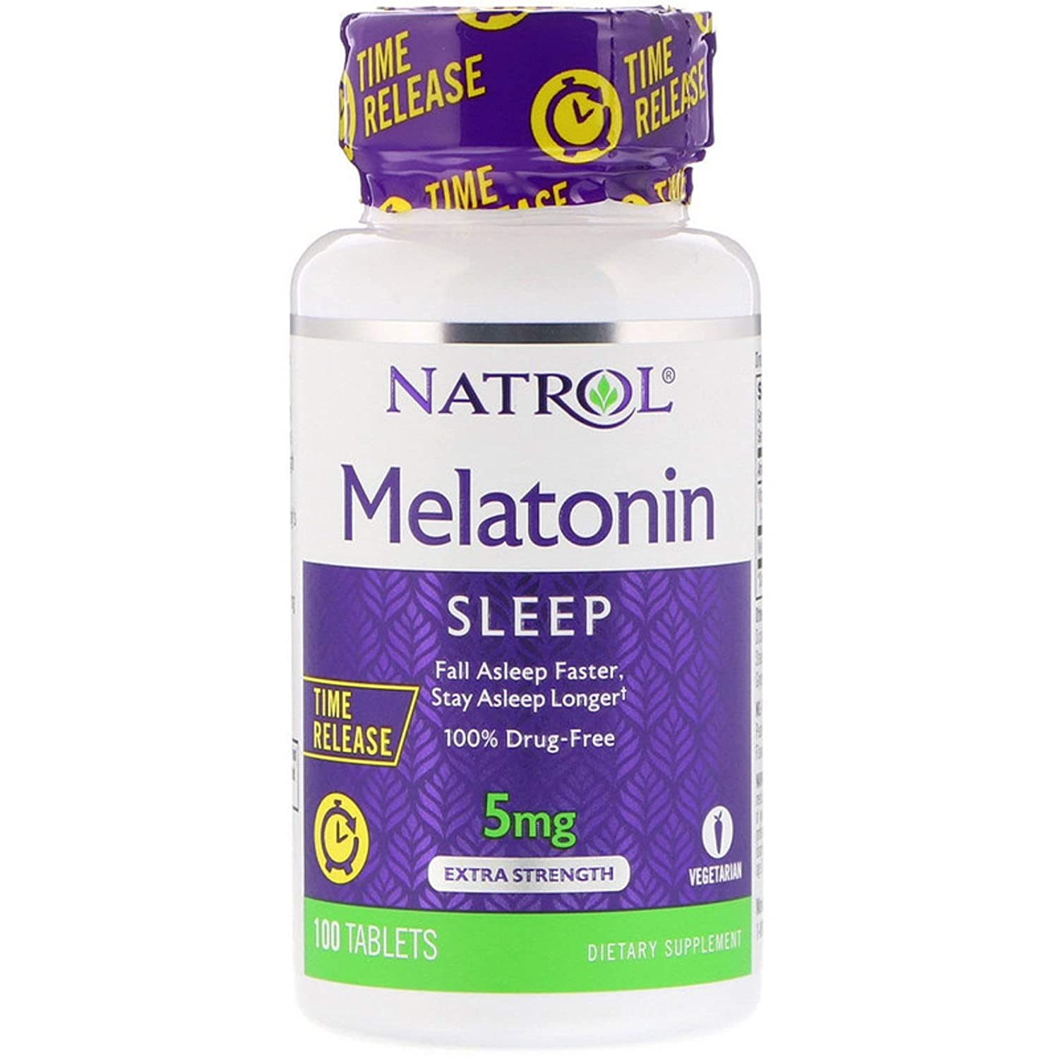 Amazon.com: Melatonin Time Release Extra Strength Vitamin B-6 Fall Asleep Faster Stay Asleep Longer 5 mg 100 Tablets: Health & Personal Care