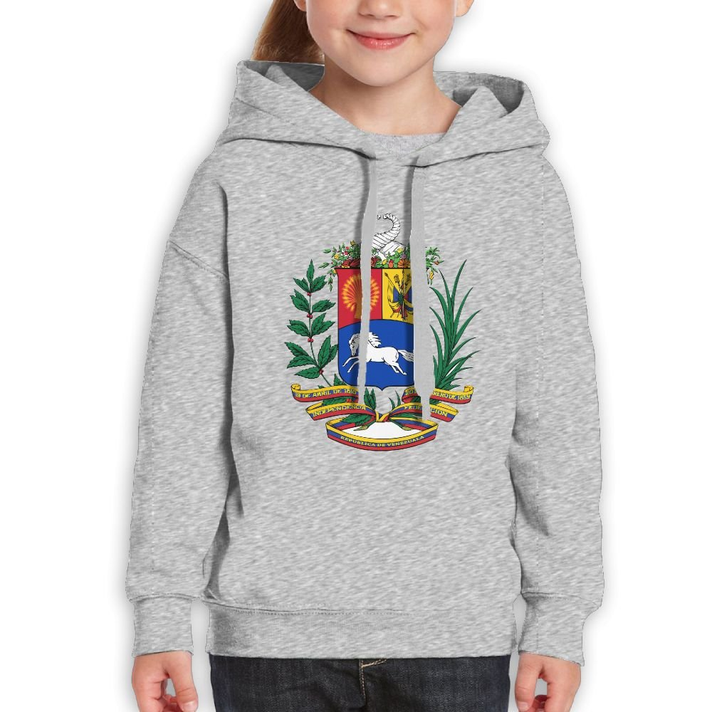 DTMN7 Coat Of Arms Of Venezuela Awesome Printed Crew Neck Top For Teens Spring Autumn Winter