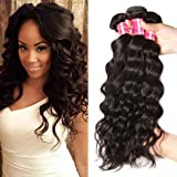 Nadula Brazilian Natural Wave Remy Virgin Human Hair Pack of 3 Unprocessed Virgin Hair Bundles Natural Color (8 10 12inch)