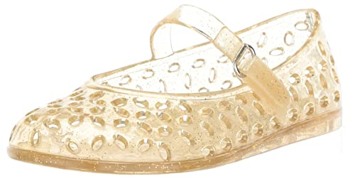 b0ca1e6a8abf8 The Children's Place Girls' TG MJ Jelly Flat Sandal, Gold, TDDLR 9 Medium  US Infant