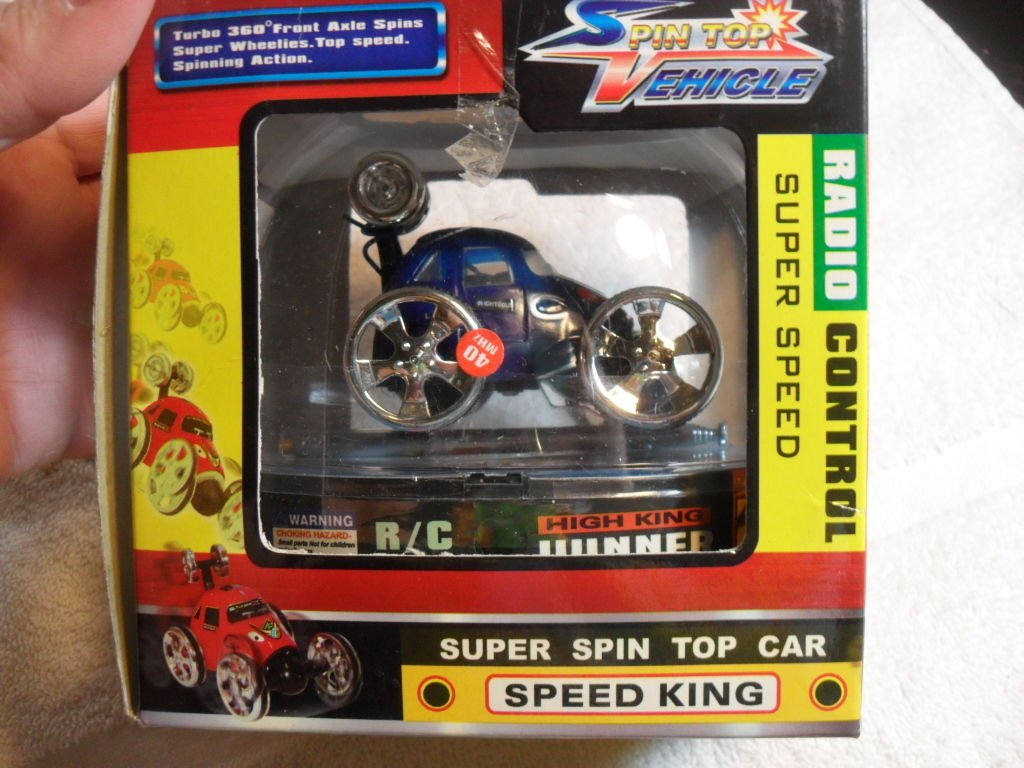 BLUE SPEED KING REMOTE CONTROL RC SUPER Spin Top Vehicle Car Mint In Box 27MHZ: NONE: Amazon.com: Books